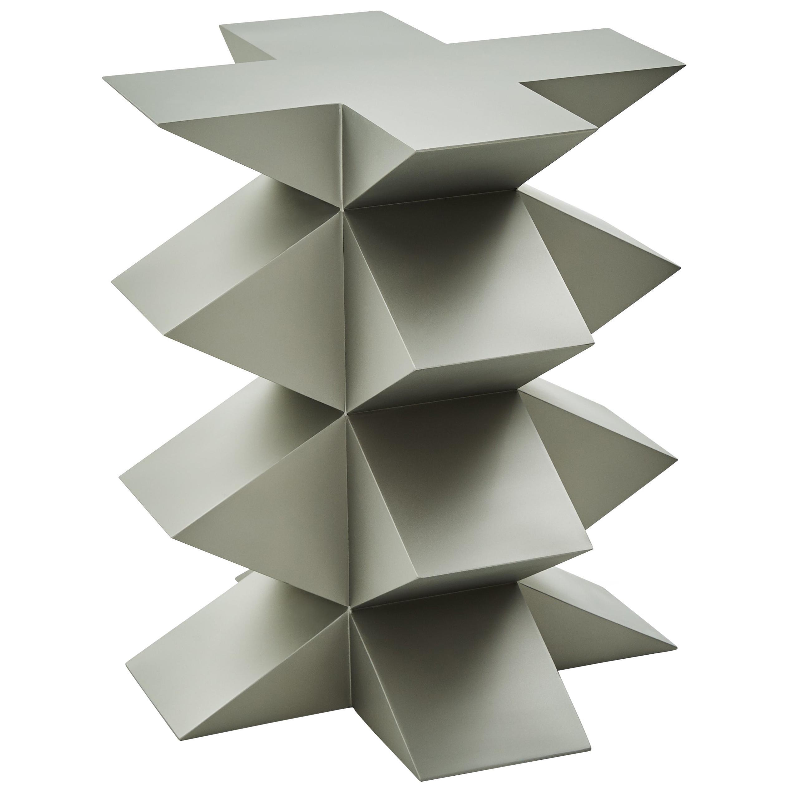 Studio Brancusi III Sculptural Side Table Matte Steel Customizable