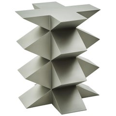Studio Brancusi III Sculptural Side Table Matte Steel Customizable
