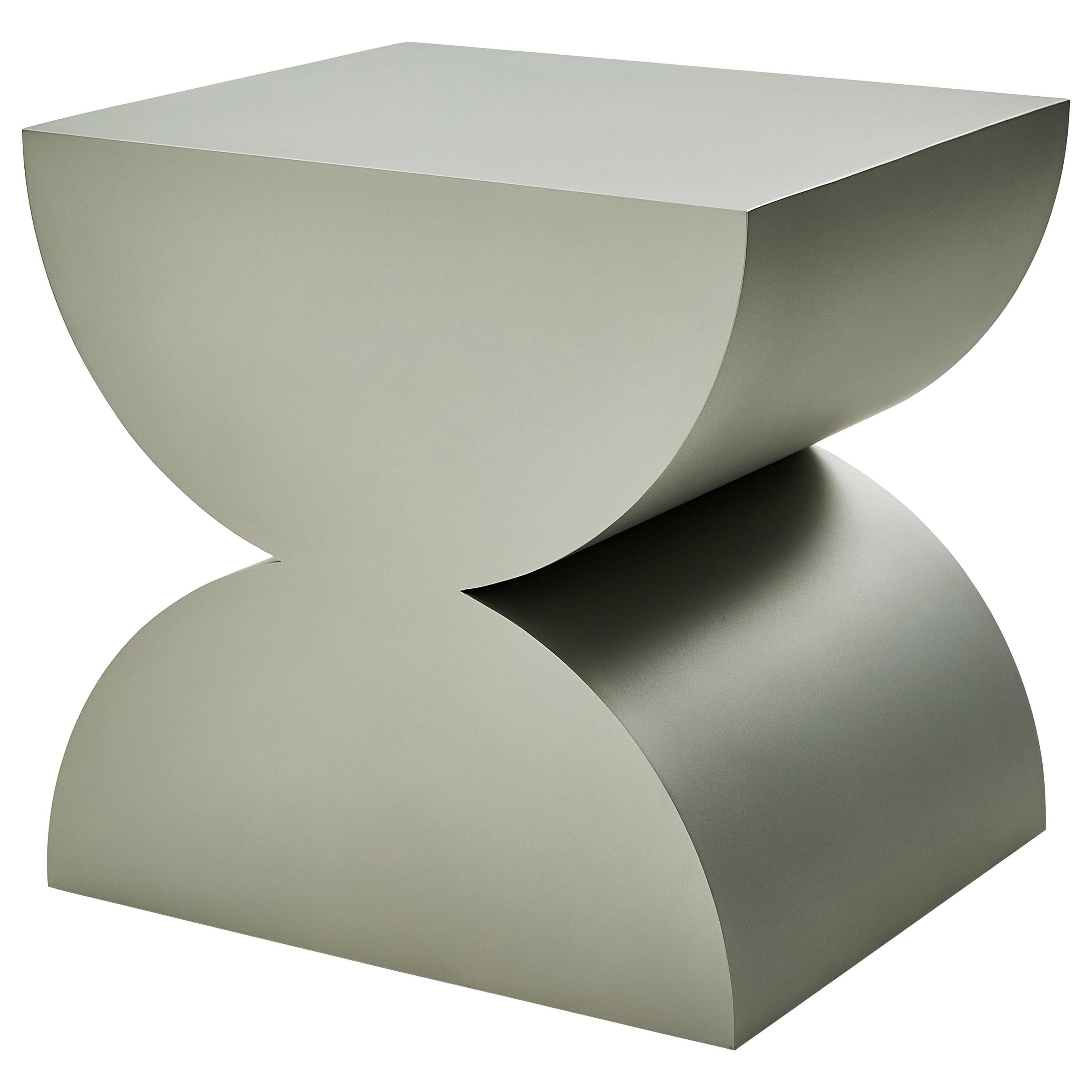 Studio Brancusi II Sculptural Side Table Matte Steel Customizable