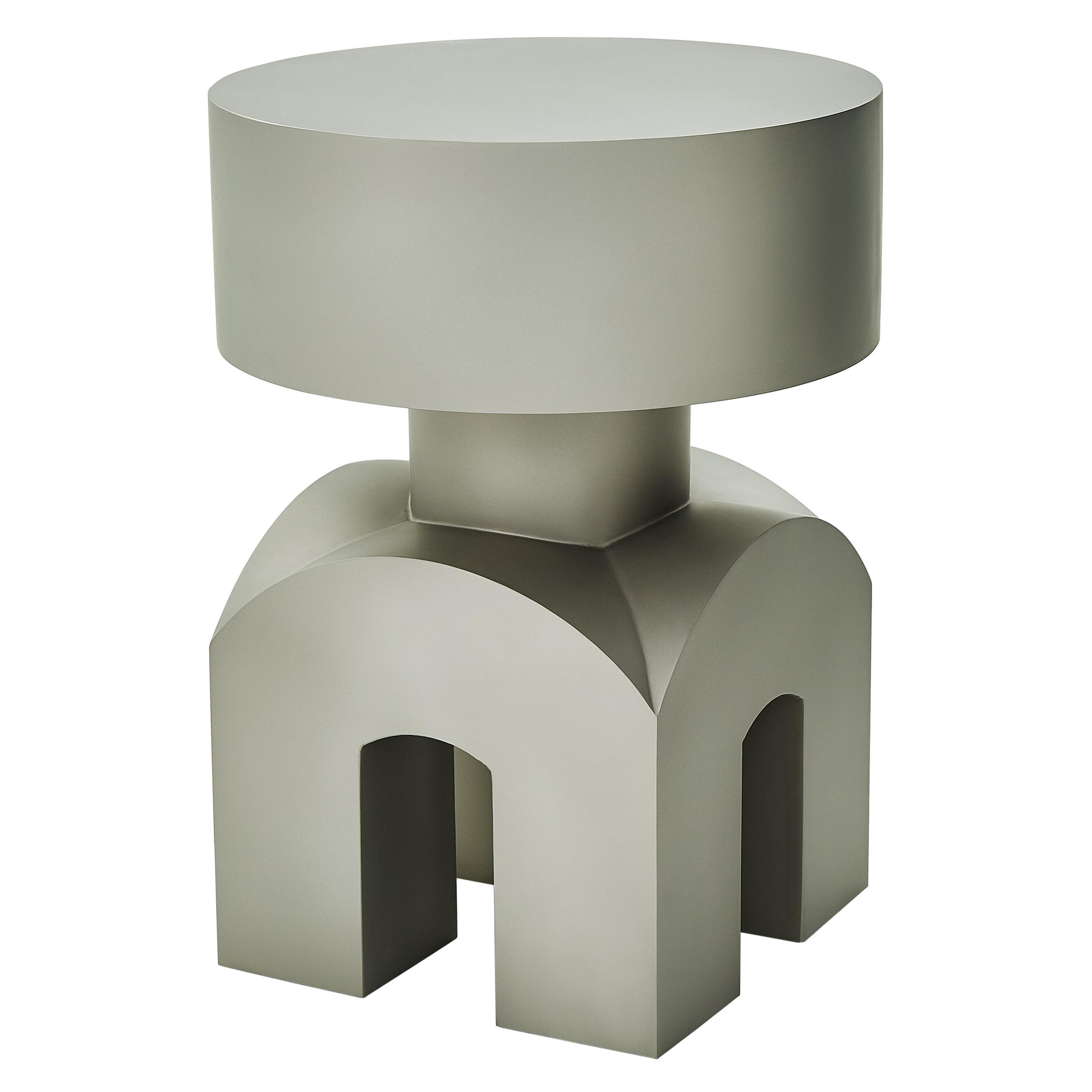 Studio Brancusi IX Sculptural Side Table Matte Steel Customizable