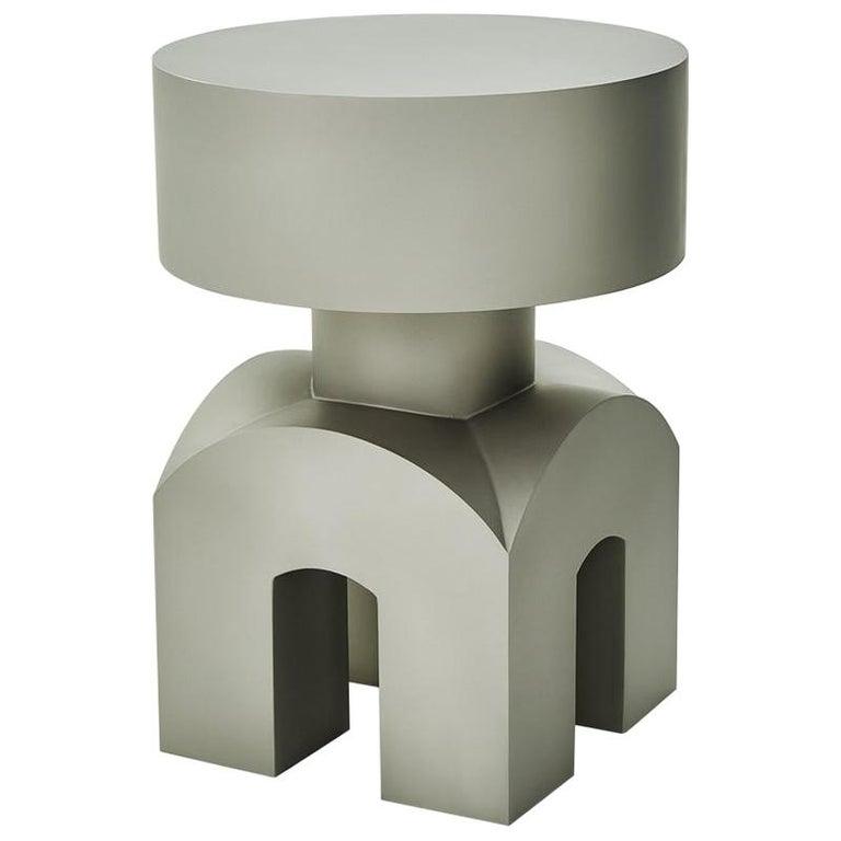 Studio Brancusi IX Sculptural Side Table Matte Steel Customizable For Sale