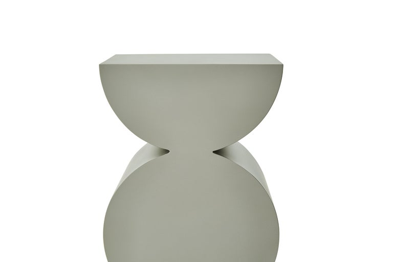 Chinese Studio Brancusi XI Sculptural Side Table Matte Steel Customizable For Sale