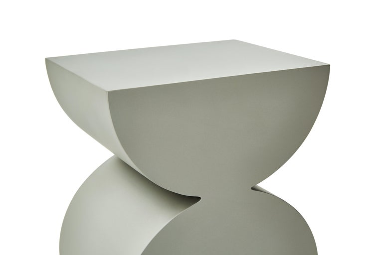 Studio Brancusi XI Sculptural Side Table Matte Steel Customizable In New Condition For Sale In Beverly Hills, CA