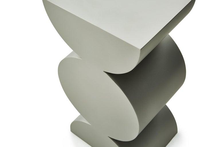 Contemporary Studio Brancusi XI Sculptural Side Table Matte Steel Customizable For Sale