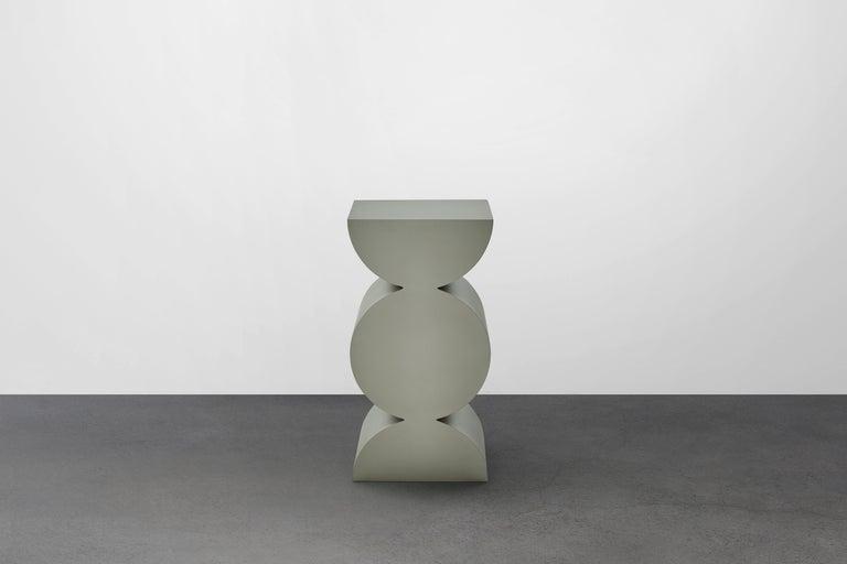 Stainless Steel Studio Brancusi XI Sculptural Side Table Matte Steel Customizable For Sale