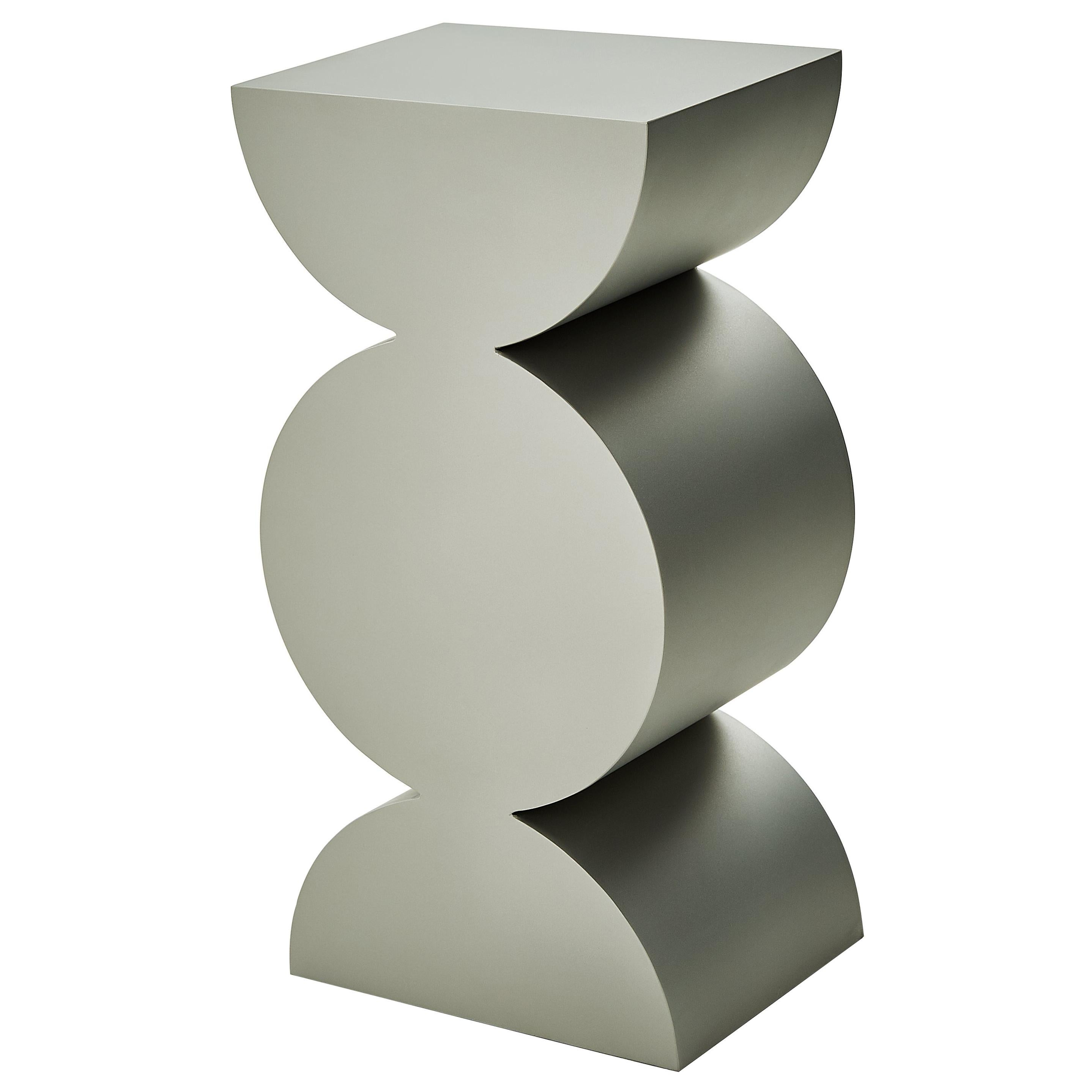 Studio Brancusi XI Sculptural Side Table Matte Steel Customizable