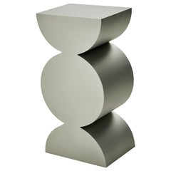 Studio Brancusi XI Sculptural Side Table Matte Steel Customizable