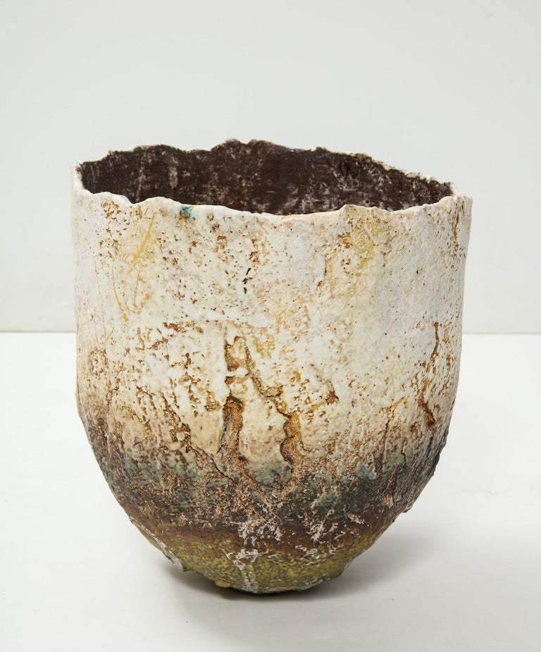 Modern Studio-Built Ceramic Vessel by Rachel Wood For Sale