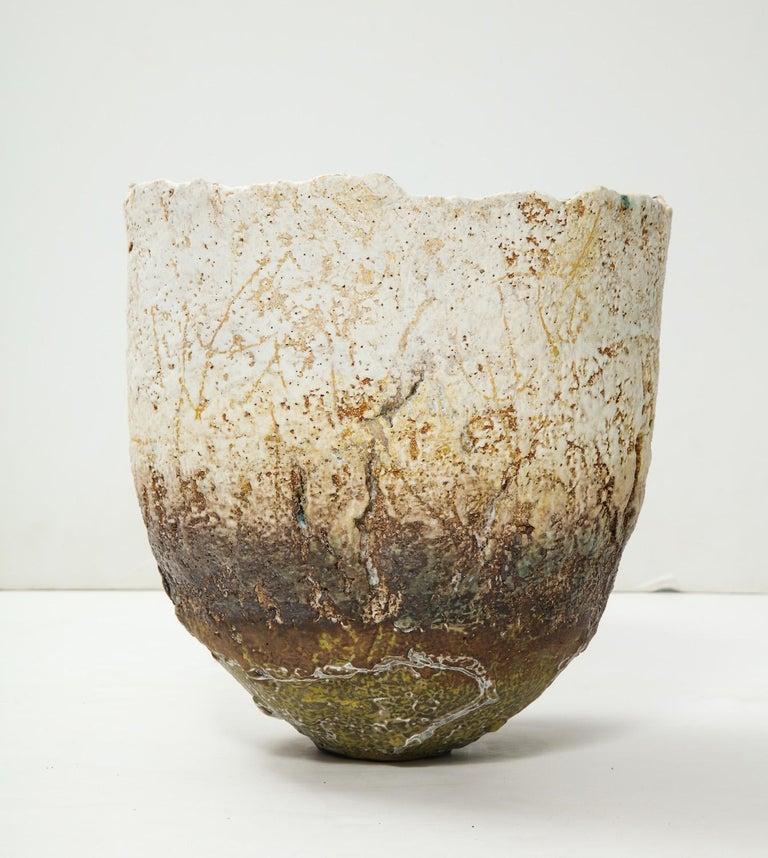 English Studio-Built Ceramic Vessel by Rachel Wood For Sale