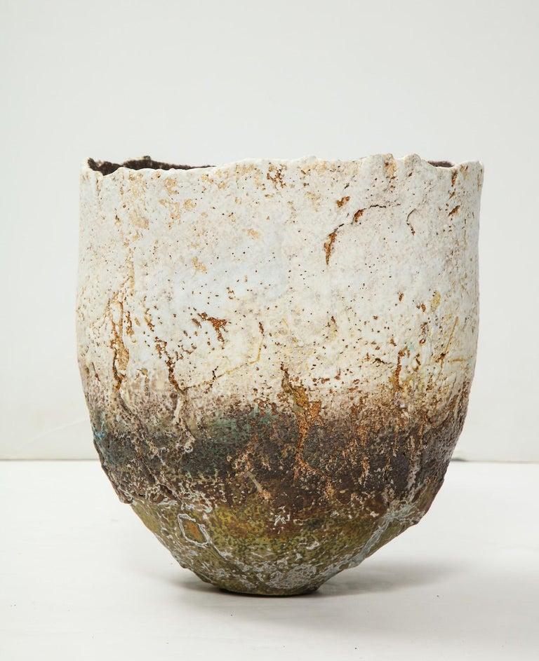Contemporary Studio-Built Ceramic Vessel by Rachel Wood For Sale