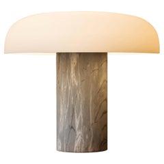 Studio Buratti 'Tropico' Gray Marble & Glass Table Lamp for Fontana Arte