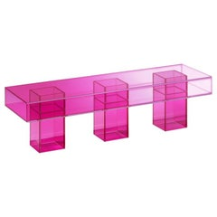 Studio Buzao, Null Bench Hot Pink Edition, Laminated Glass, Limited Edition