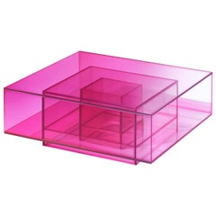 Studio Buzao, Null Coffee Table Hot Pink Edition, Laminated Glass