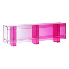 Studio Buzao, Null Low Shelf Hot Pink Edition, Laminated Glass