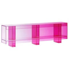 Studio Buzao, Null Low Shelf Hot Pink Edition, Laminated Glass