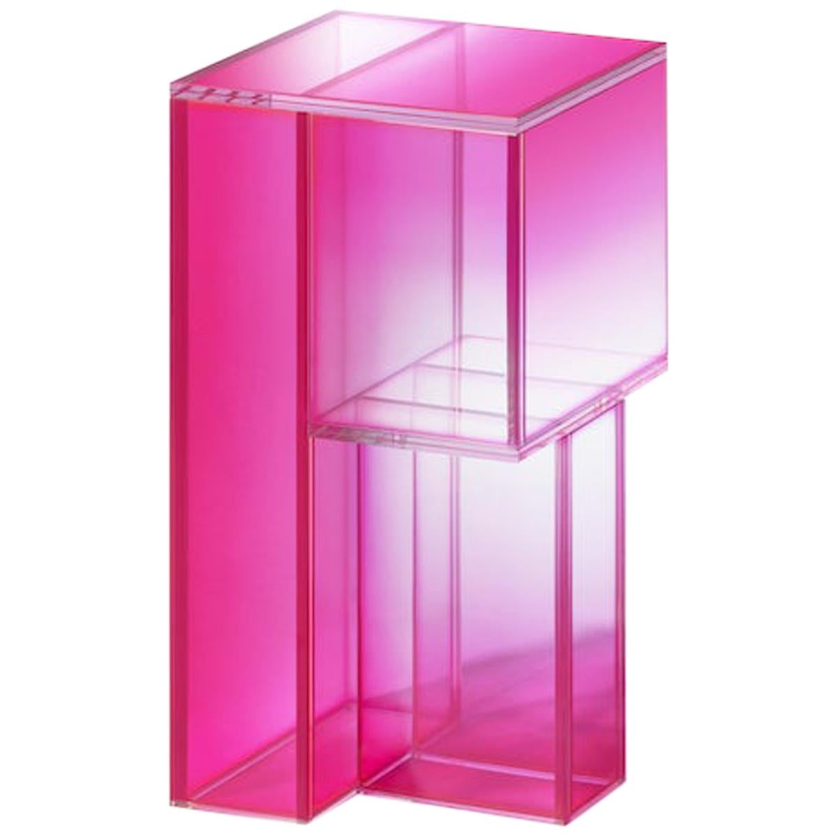 Studio Buzao, Null Side Shelf Hot Pink Edition, Laminated Glass, Limited Edition