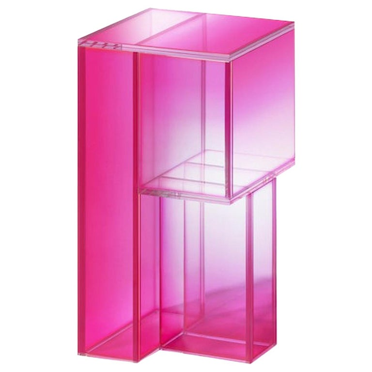 Studio Buzao, Null Side Shelf Hot Pink Edition, Laminated Glass, Limited Edition For Sale