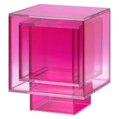 Studio Buzao, Null Square Side Table Hot Pink Edition, Laminated Glass