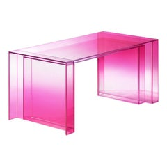Studio Buzao, Null Writing Desk Hot Pink Edition, Laminated Glass