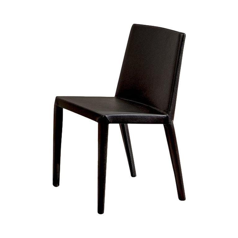 Studio Cappellini Normal Chair with Leather Upholstery for Cappellini