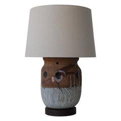 Studio Ceramic Table Lamp, USA, 1960s