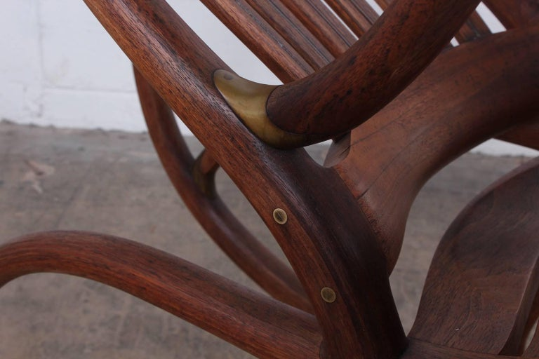 Late 20th Century Studio Craft Rocking Chair by David Crawford For Sale