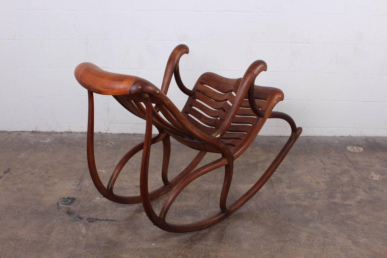 Studio Craft Rocking Chair by David Crawford For Sale 2