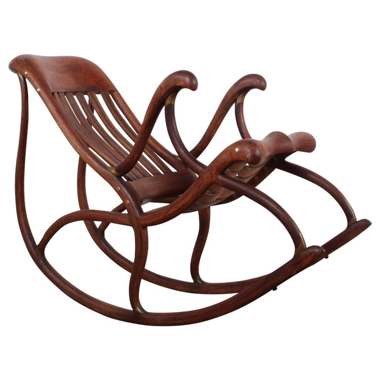 Studio Craft Rocking Chair by David Crawford For Sale