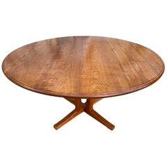 Studio Craft Round Solid Cherry Dining table by Charles Shackleton Vermont
