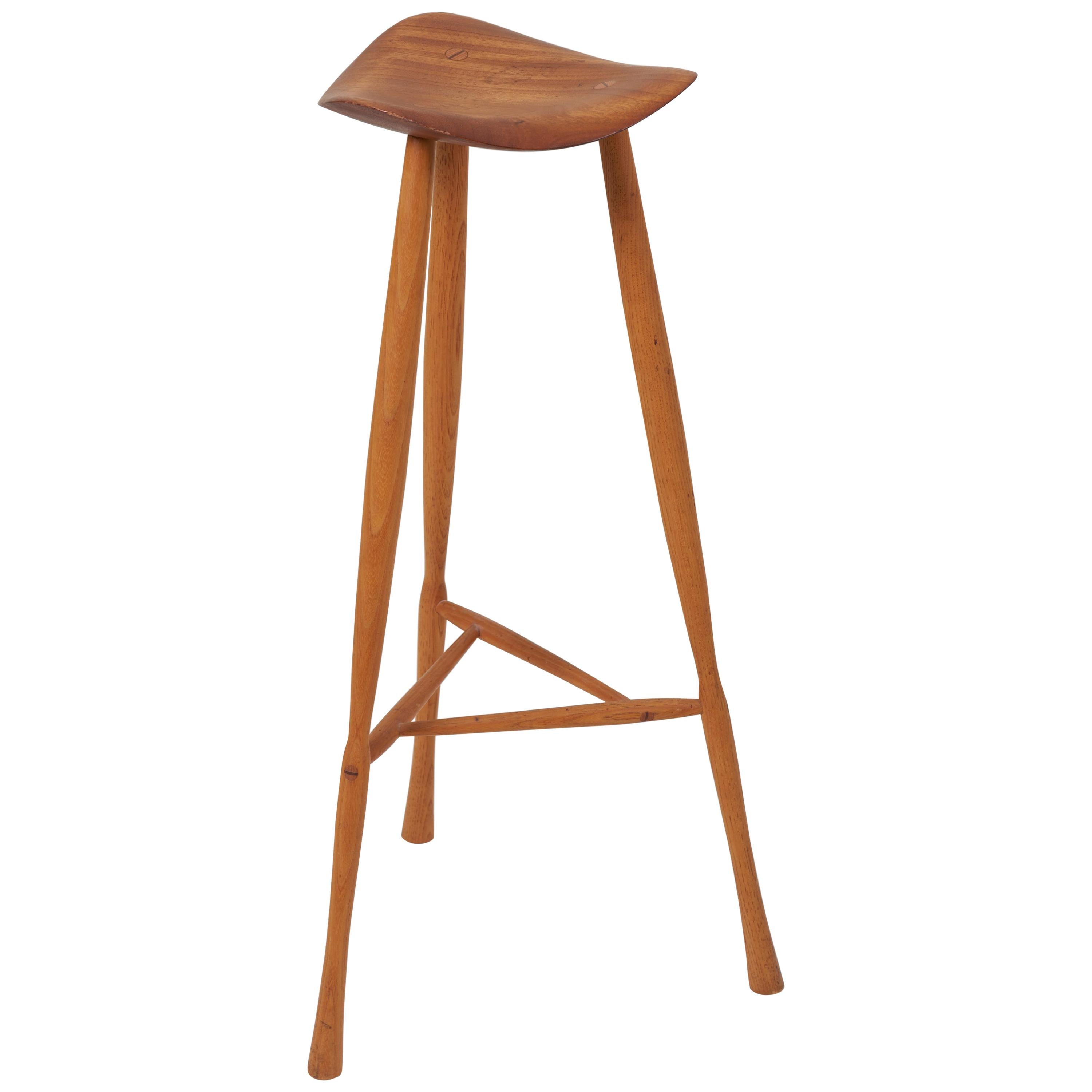 Outstanding Studio Craft Stool By Karl Seemuller Us 1975 Andrewgaddart Wooden Chair Designs For Living Room Andrewgaddartcom