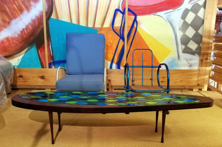 Studio Crafted Georges Briard Style Coffee Table Possibly John Rothschild, 1960s 4