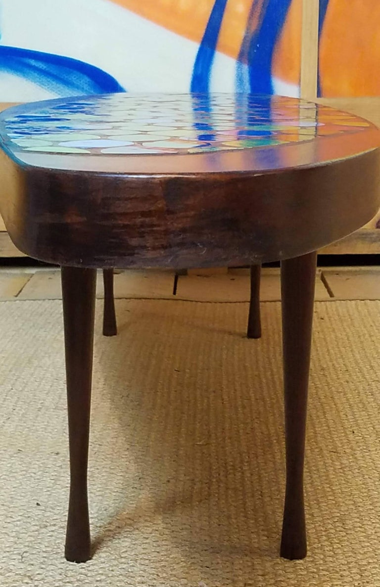 Mid-Century Modern Studio Crafted Georges Briard Style Coffee Table Possibly John Rothschild, 1960s