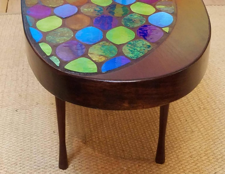 Ceramic Studio Crafted Georges Briard Style Coffee Table Possibly John Rothschild, 1960s