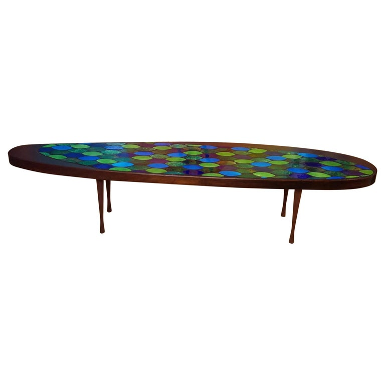 Studio Crafted Georges Briard Style Coffee Table Possibly John Rothschild, 1960s