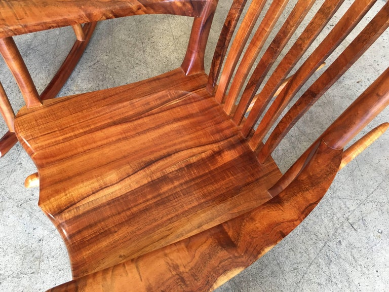Studio Crafted Koa Wood Rocking Chairs By Stan Gollaher At