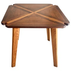 Studio Crafted Mixed Woods Dining Table / Game Table
