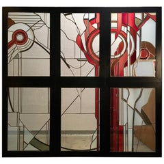 Studio Crafted Stained Glass Abstraction