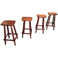 Studio Crafted Walnut Stools