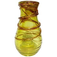 Studio Cristal Val Saint Lambert Vase Signed Studio Cristal, 1995, Belgium