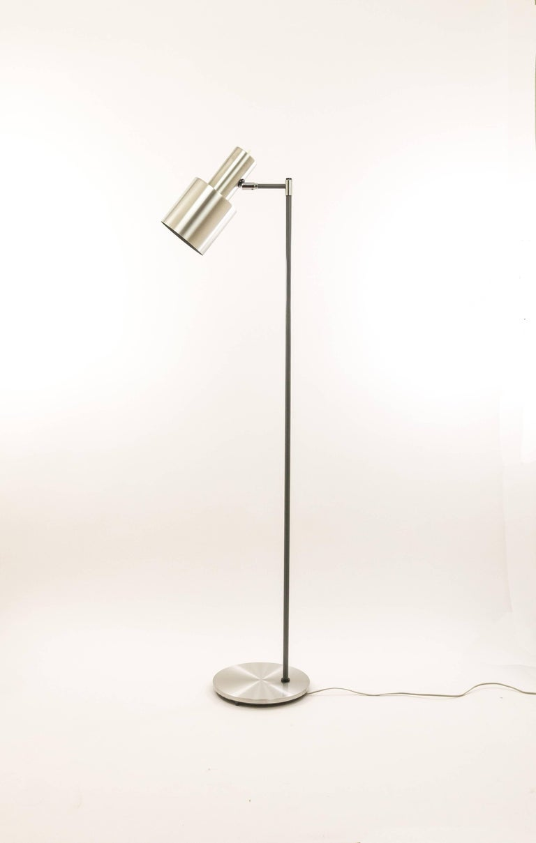 Studio floor lamp in aluminium by jo hammerborg for fog and mrup modern studio floor lamp in aluminium by jo hammerborg for fog mrup 1960s for aloadofball Gallery