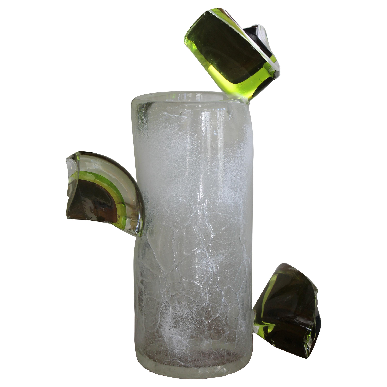 Studio Glass Vase, Dale Chihuly Jerusalem Cylinder