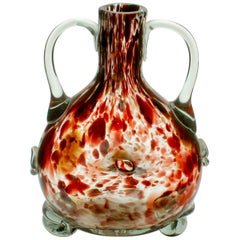 Studio Glass Vase Based on a Mouth-Blown Bottle Shape of Tortoiseshell