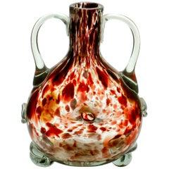 Studio Glass Vase Based on a Mouth-Blown Bottle Shape of Tortoiseshell