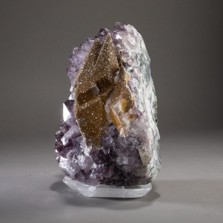 Studio Greytak 'Amethyst with Citrine Druzy on Crystal Base' In New Condition For Sale In Missoula, MT