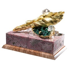 Studio Greytak 'Bling Box 1' Rhodochrosite Box, Gold Leaf Wood, Topaz, Garnet