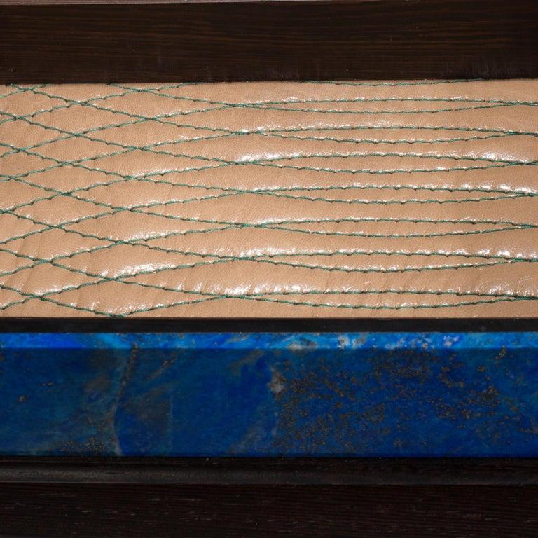 Contemporary Studio Greytak 'Bling Box 3' Lapis Lazuli, Wenge, Malachite, Decorative Box For Sale