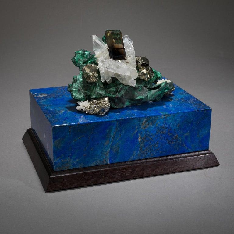 Studio Greytak 'Bling Box 3' Lapis Lazuli, Wenge, Malachite, Decorative Box For Sale 2
