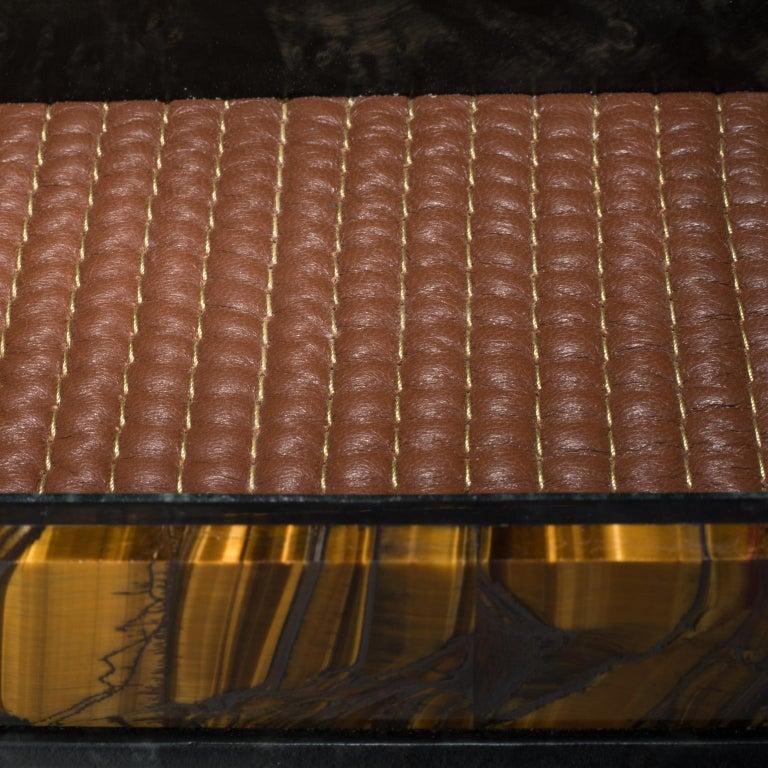 American Studio Greytak 'Bling Box 6' Fluorite, Pyrite Sun, Amber, Topaz and Meteorite For Sale