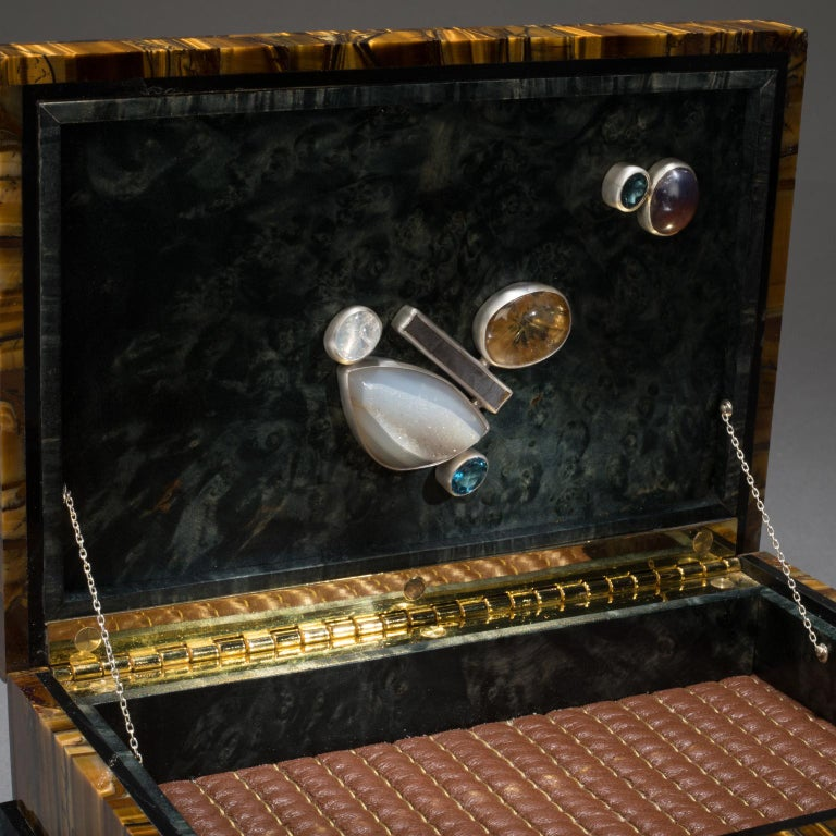 Studio Greytak 'Bling Box 6' Fluorite, Pyrite Sun, Amber, Topaz and Meteorite In New Condition For Sale In Missoula, MT