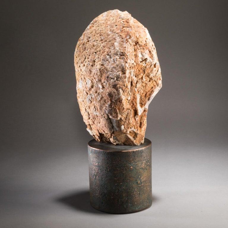 Studio Greytak 'Citrine on Copper Base' Citrine Specimen on Solid Copper Art In New Condition For Sale In Missoula, MT